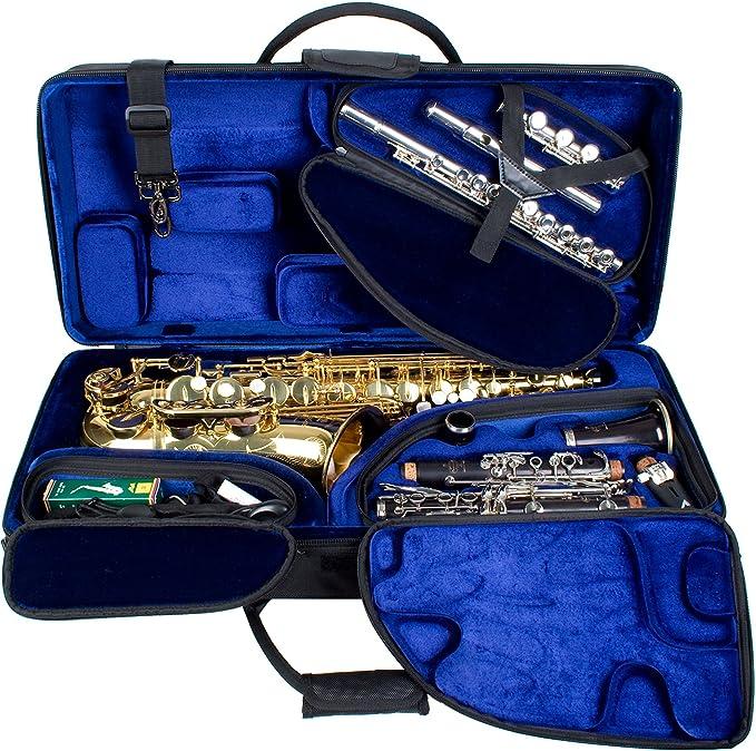 Protec PBTRIALT - Funda para clarinete, flauta travesera, saxofón alto, color negro: Amazon.es: Instrumentos musicales