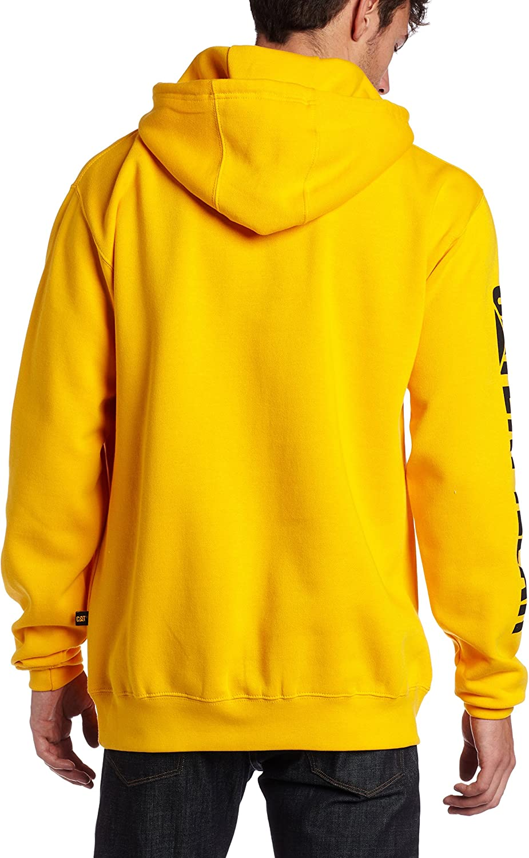 Caterpillar Mens Trademark Banner Hooded Big Tall Sweatshirt