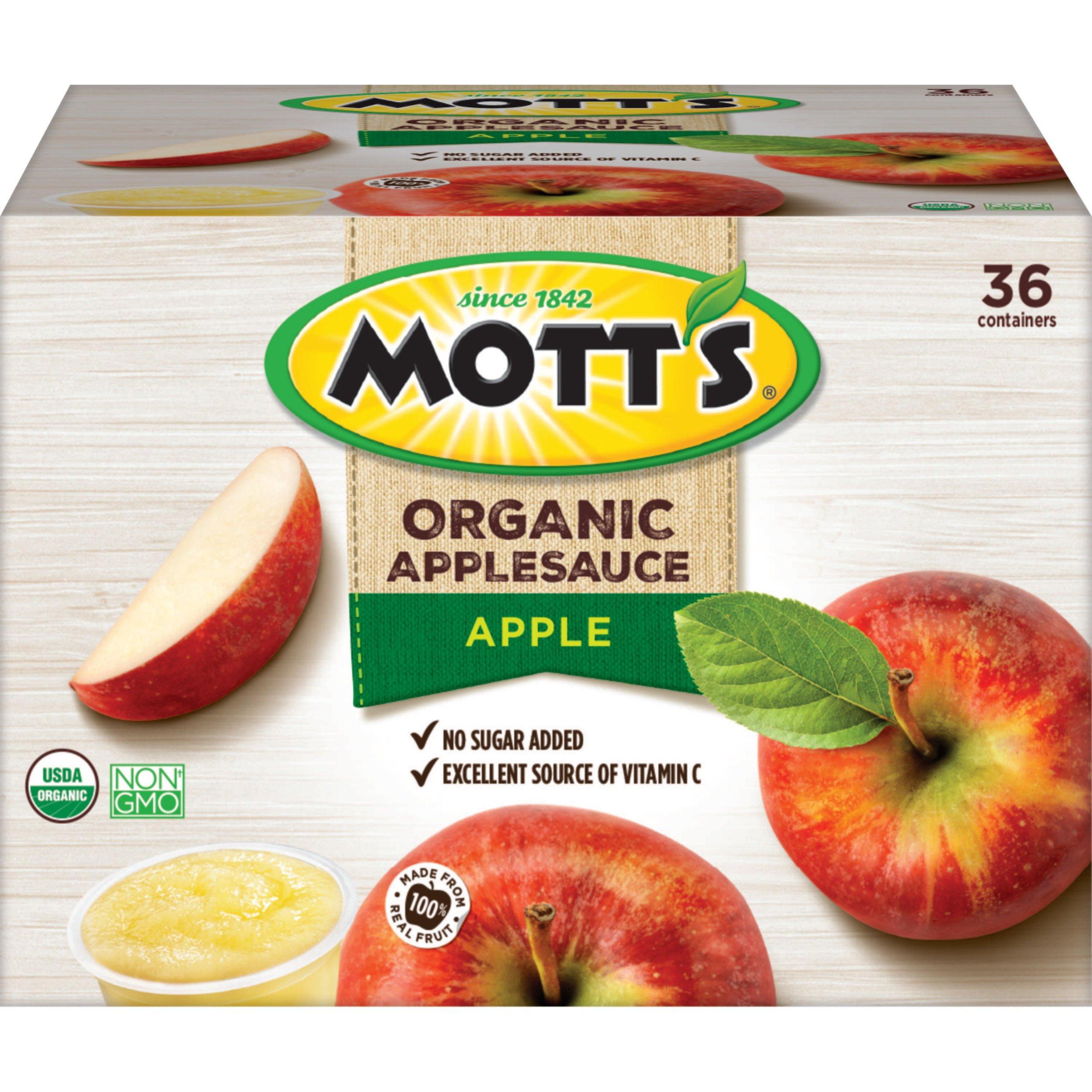 Mott's Organic Applesauce, 3.9 oz cups, 36 count by Mott's