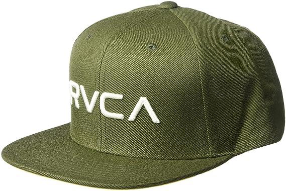 92bb530ffd2 RVCA Mens Twill Snapback Hat