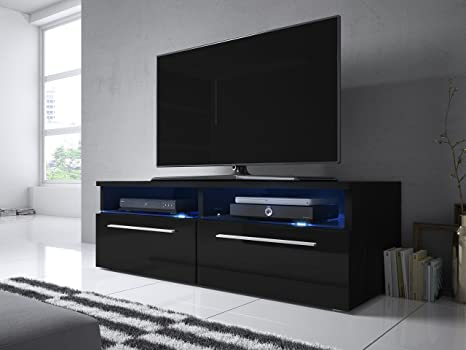 Siena - Mobile Porta TV / Supporto TV Moderno (100 cm, Nero Opaco ...