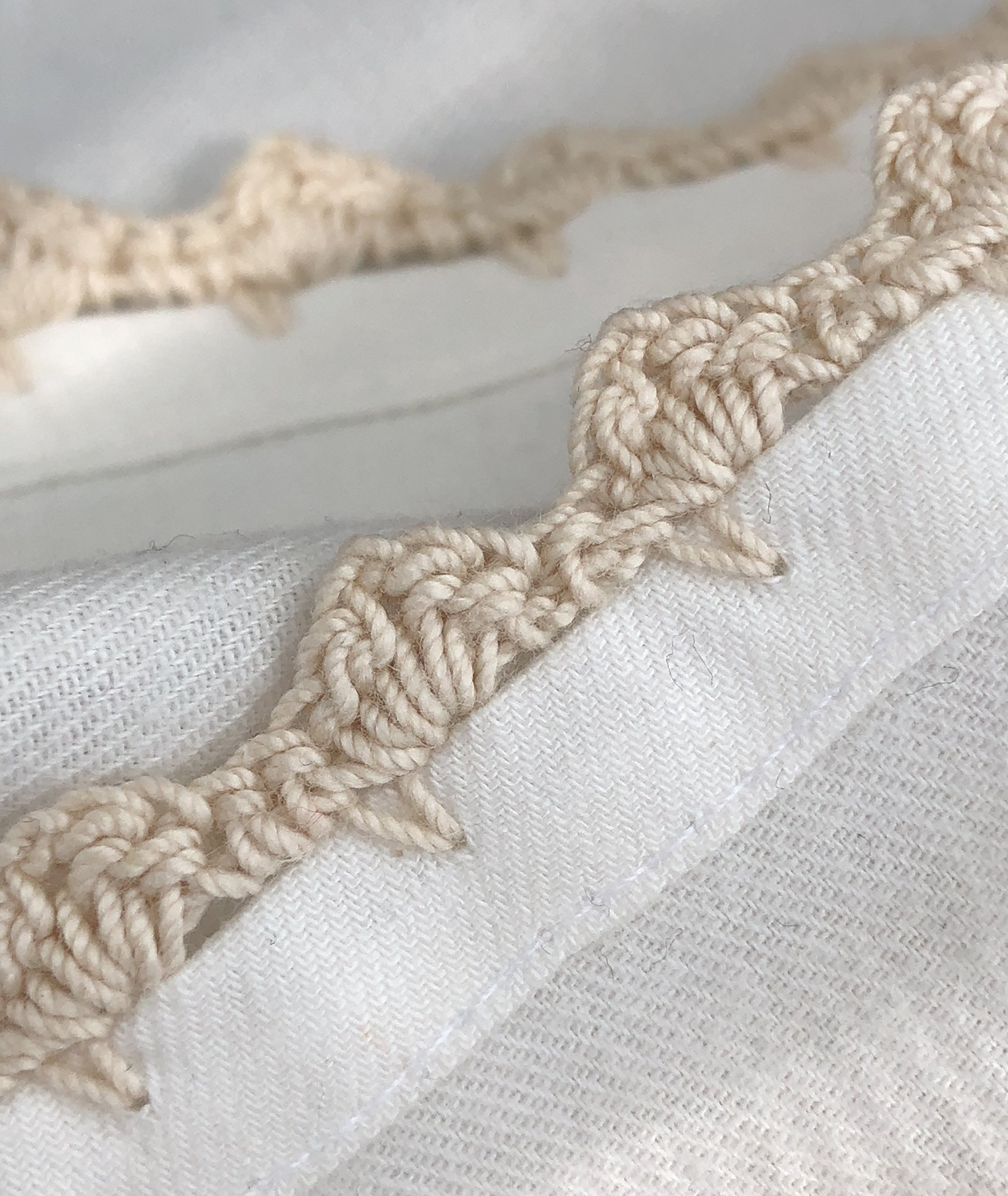 MoLi 100% Egyptian Cotton Cloth Dinner Napkins Hand Crocheted - Set of 6 Pack Lunch Linen - Elegant Decorative Fabric Handmade Table Linens - Servilletas de Tela Wedding Napkin (White) by MoLi (Image #5)