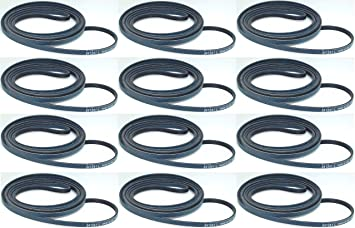 Dryer Belt 12 Pack for Whirlpool 12OF341241 AP2946843 Sears PS346995