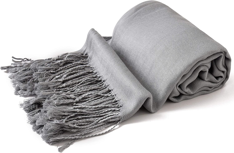 scialle pashmina colorato, nuovo CJ Apparel Scialle pashmina robusto sciarpa avvolgente pi/ù di 60 colori