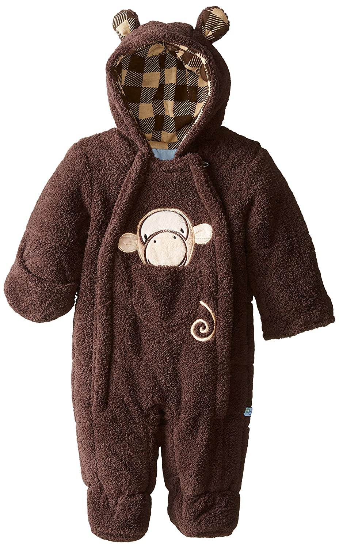 Wippette Baby-Boys Newborn Monkey Sherpa Pram