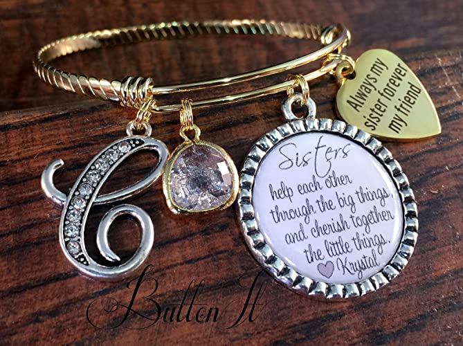amazon com sister gift sister bracelet personalized gift big