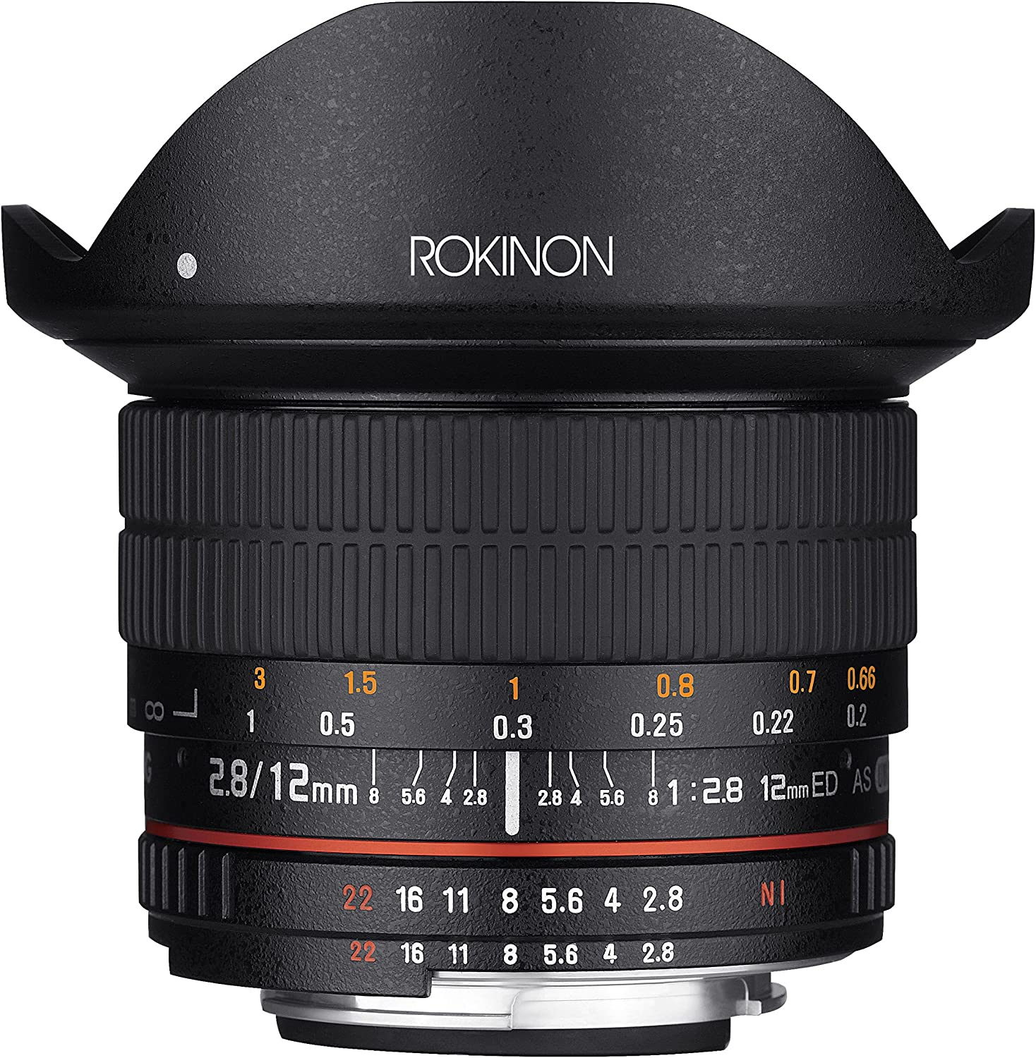 Rokinon 12mm F2.8 Ultra Wide Fisheye Lens for Canon EOS EF DSLR Cameras - Full Frame Compatible