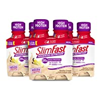 SlimFast Advanced Nutrition Vanilla Cream Shake – Ready To Drink Meal Replacement – 20g of Protein – 11 Fl. Oz. Bottle – 12 Count - Pantry Friendly