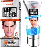 Emami Fair and Handsome Fairness Cream for Men, 60g with Fair and Handsome Instant Fairness Face Wash, 100g