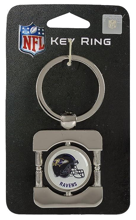 Amazon Com Baltimore Ravens Executive Silver Key Chain Nfl