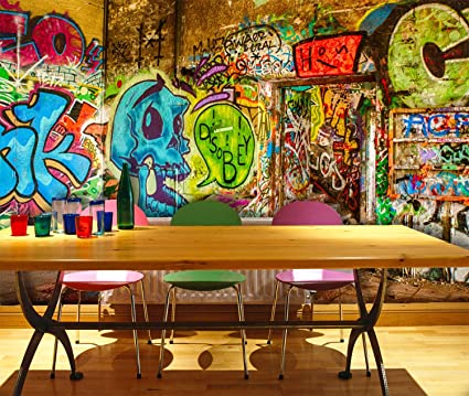 3d Graffiti Skull Art Wall Painting 11 Wall Paper Wall Print