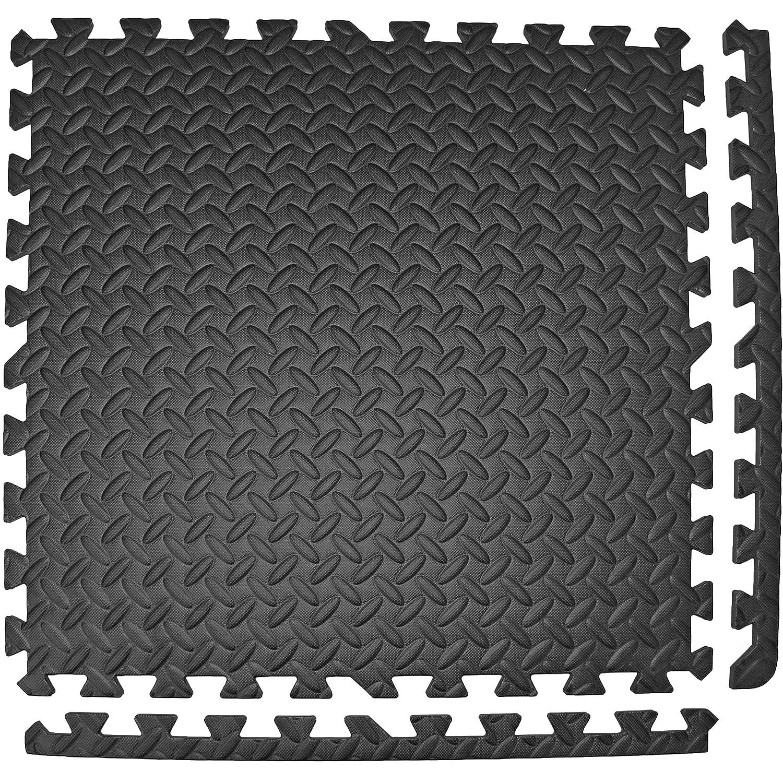 Sheds /& Garage 20 MM Extra Thick Eva Foam Interlocking Black Mat Tiles for Gyms