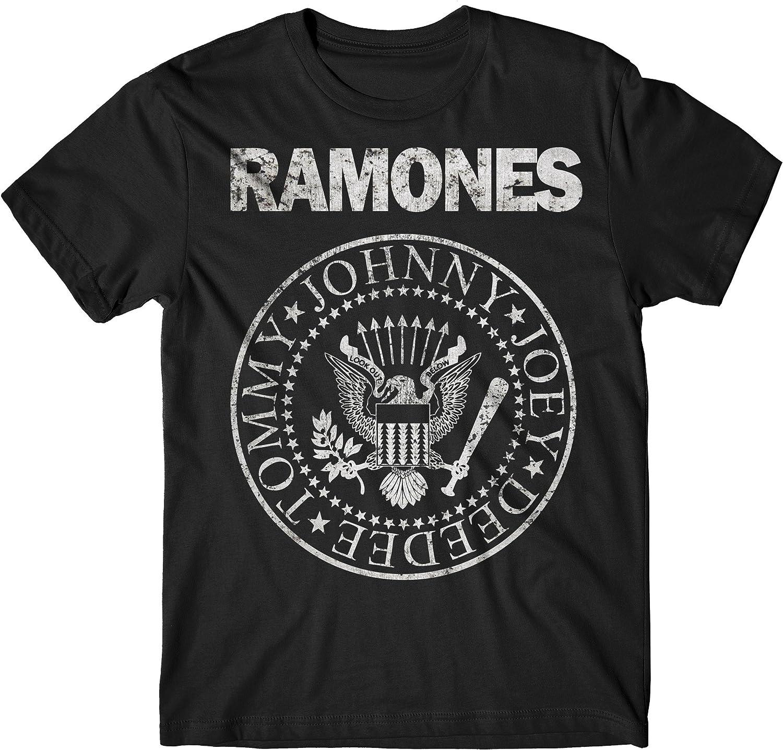 LaMAGLIERIA Camiseta Hombre Ramones - Grunge Print T-Shirt Punk Rock Band 100% algodòn