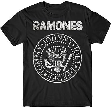 LaMAGLIERIA Camiseta Hombre Ramones - Grunge Print T-Shirt Punk Rock Band 100% algodòn: Amazon.es: Ropa y accesorios
