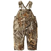 Carhartt Baby Boys' Washed Work Camo Bib Overall, Realtree Xtra, 3 Months