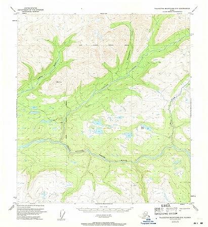 Amazon.com: Alaska Maps | 1950 Talkeetna Mountains, AK USGS ...