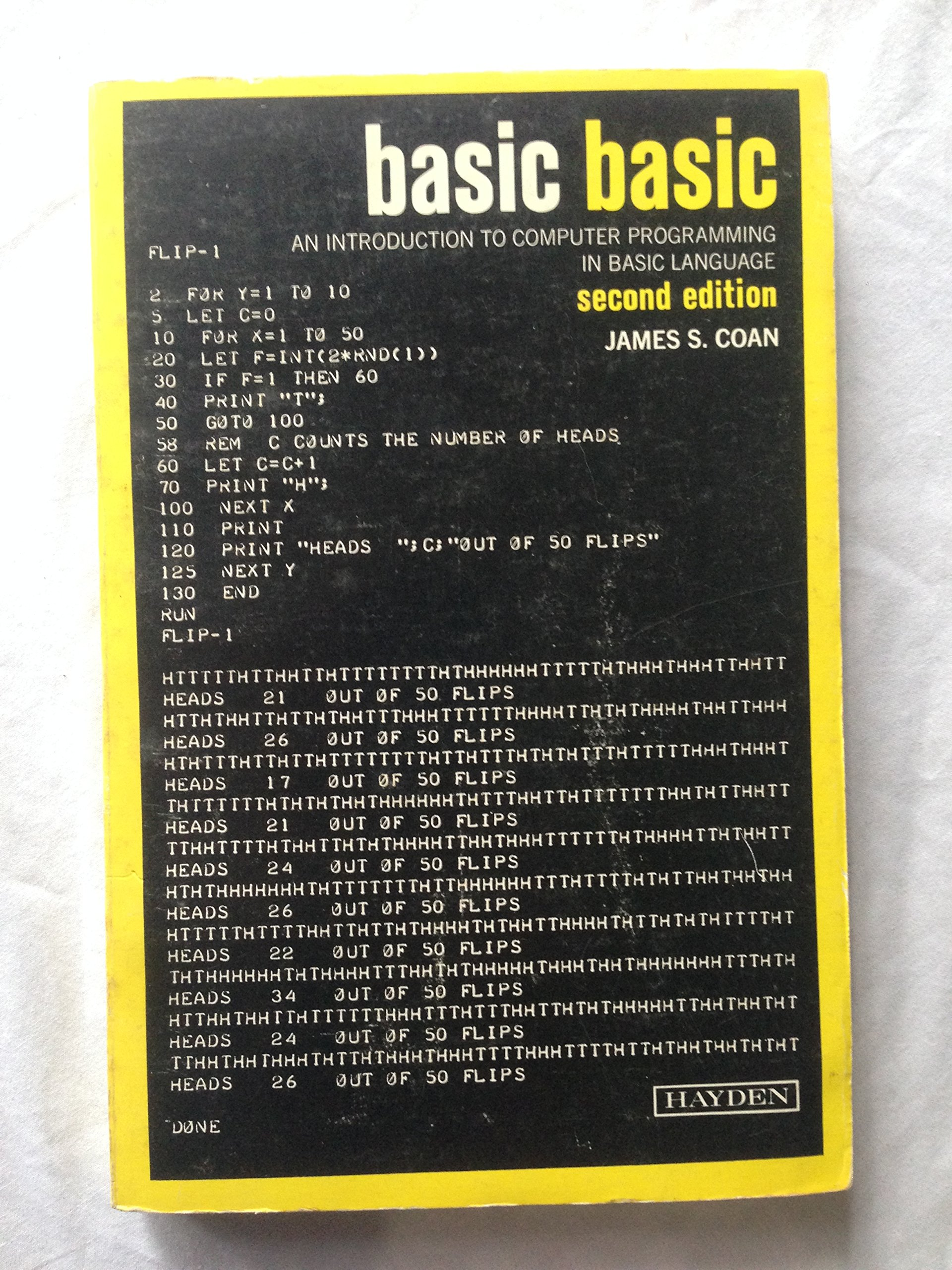 Basic BASIC: An Introduction to Computer Programming in BASIC ...
