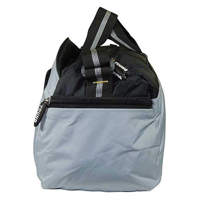 f5d09621f4 Light Weight Polyester Soft Padding Shoe Pocket Gym Bag Sports Duffel  (Grey)  Amazon.in  Sports