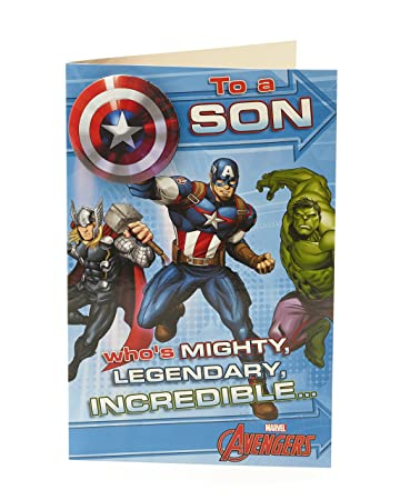 Amazon.com: Marvel Avengers Mighty hijo tarjeta de ...