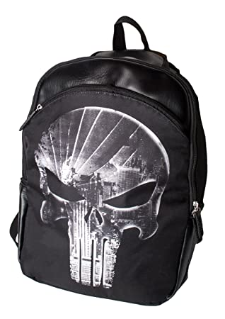 Amazon.com | Marvel Superhero Punisher Skull Backpack for Boys, Black Laptop School Bag | Kids Backpacks