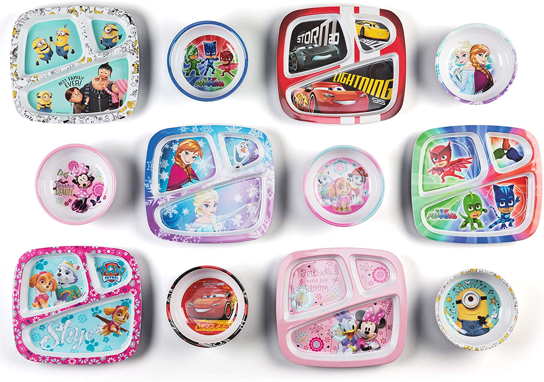Zak Designs MMNP-0361-B Kids Soup Bowl Disney Mickey Mouse Melamine