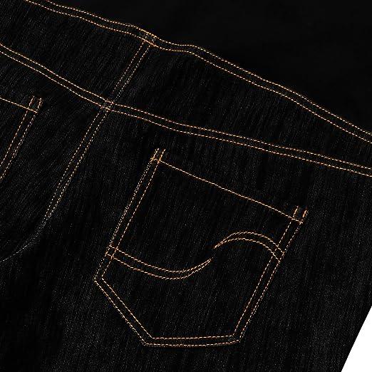 Amazon.com: Bhome pantalones vaqueros elásticos de talle ...