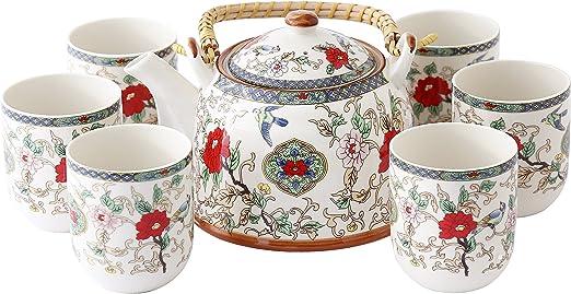 tout neuf handicaps structurels acheter authentique 7 Pièces Jingdezhen Céramique Service À Thé,Peint Fleur et ...