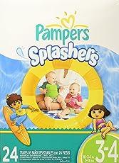 Pampers Pañales Splashers Etapa 3, Paquete de 24