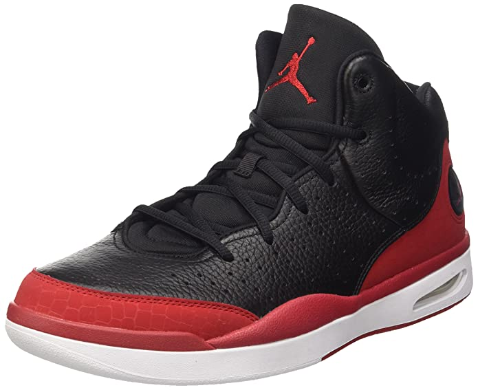 3da6d576b6c6a8 Nike 819472-001  Air Jordan Flight Tradition Black Red Basketball Men Size ( Black-red