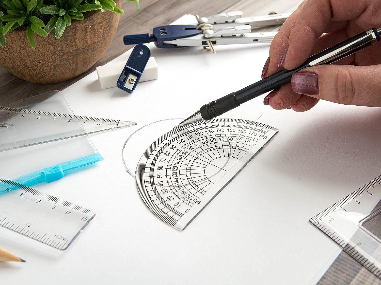 Ferocious Viking Products 16 St/ück Geometrie Schulset mit Qualit/ät Kompass