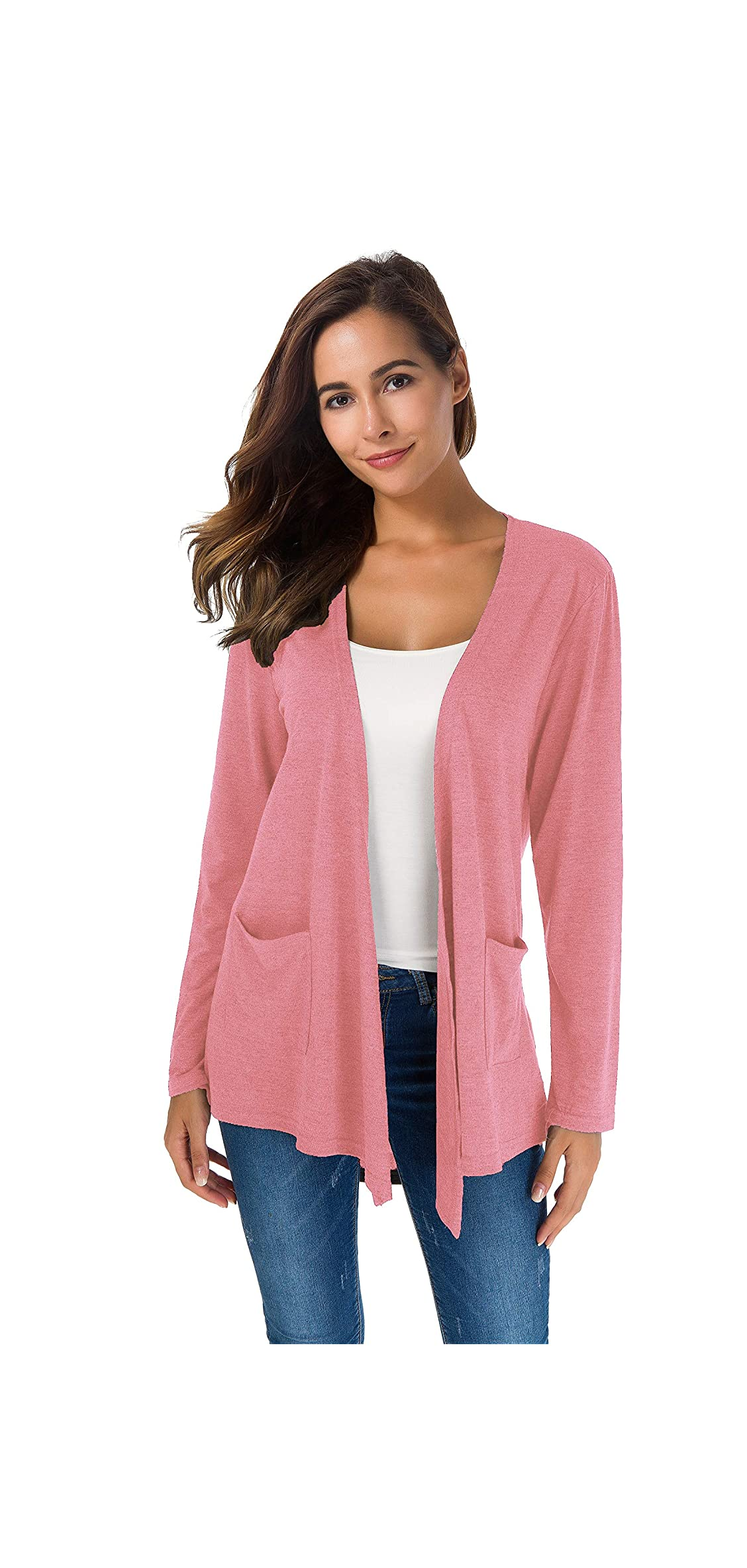Women's Loose Casual Long Sleeved Open Front Breathable