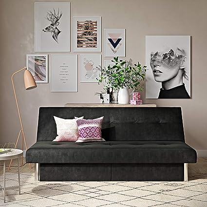 Amazon.com: DHP Sola Convertible Sofa Futon with Space Saving ...
