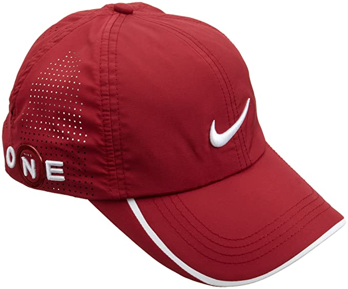 3a859d679 Amazon.com: Nike Adult One Dri-FIT Perforated Golf Hat, Team Red ...