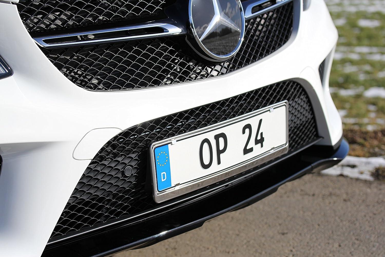 2 X Chrome Universel en Acier Inoxydable Nombre Support de Plaque Surround toute voiture