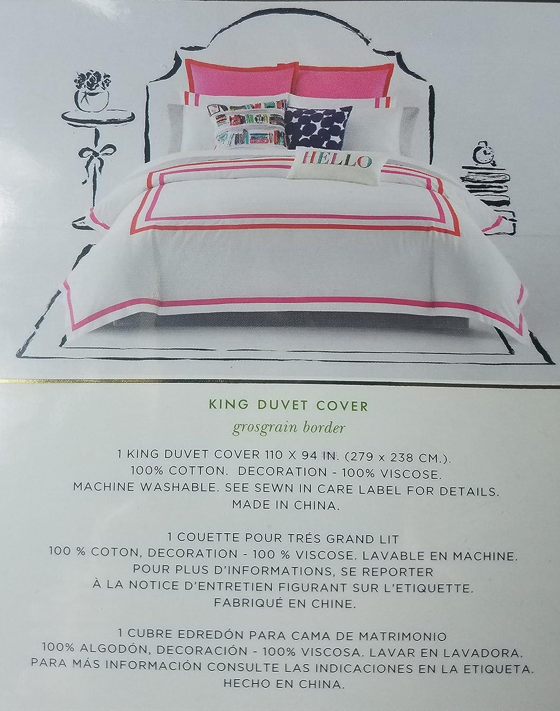 Matrimonio Bed Cover : Amazon kate spade king duvet cover maraschino home kitchen