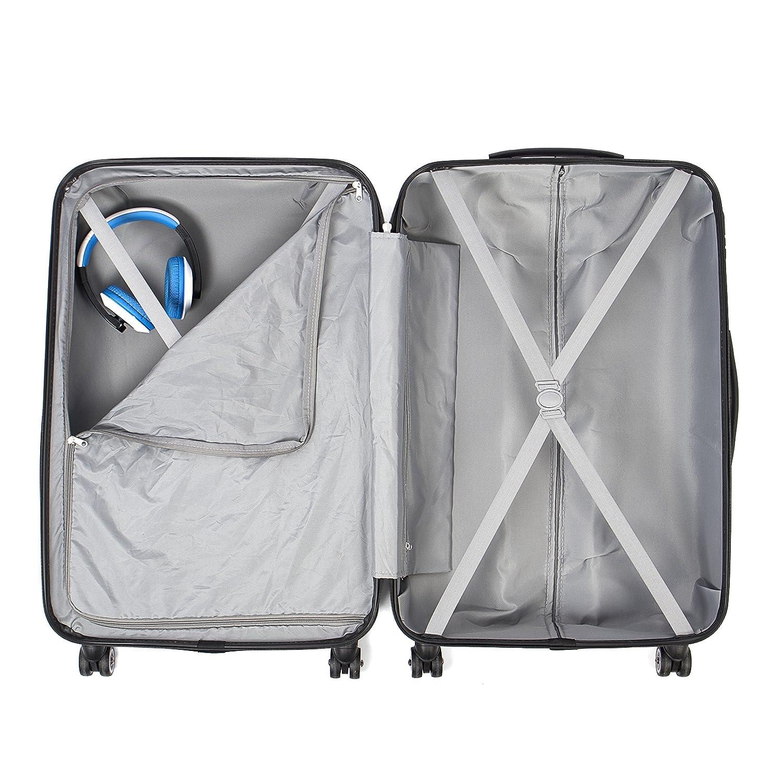 0a1db1052 MASTERGEAR 3 Diseño maleta | 4 rodillos (360 grados) | Carro, maletas,  estuche rígido, ABS, cerradura de combinación, apilable | S, M, L |  colorido: ...