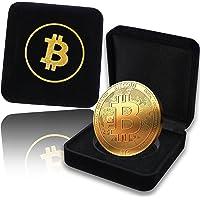 innoGadgets Pièce de Bitcoin Physique plaqué en Or de 24 carats. Un étui Noble pour Une pièce de Collection Unique - Collection 2018