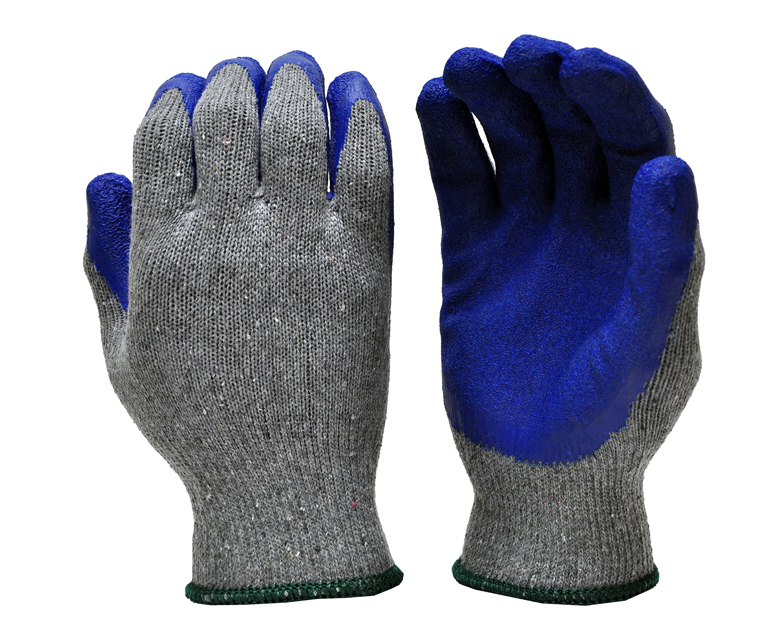 G & F 3100 Knit Glove with Textured Latex Coating Gripping Gloves, 12-Pairs, Large, Sold By Dozen 1
