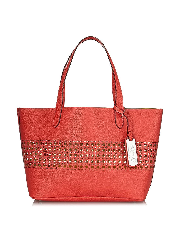 Amazon.com  Ralph Lauren Women s Leighton Shopper Tote Purse Bag (Punch  Red Buttercup Yellow)  Shoes f38d842e1c