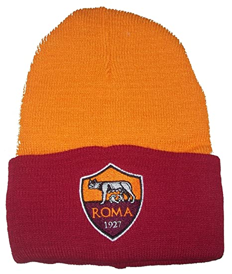 CUFFIA ROMA UFFICIALE CAPPELLO BERRETTO OFFICIAL  Amazon.it  Sport e ... 6eb4688d55aa