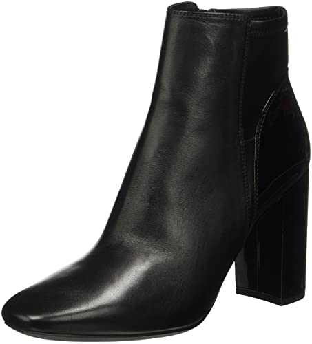 Geox D Annya High H, Botines Femme, Noir (Black C9999), 39 EU