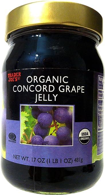amazon com trader joe s organic concord grape jelly grocery