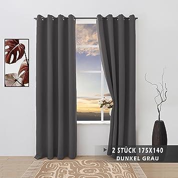 Vorhänge Schlafzimmer Verdunkeln amazon de floweroom dunkel grau verdunkelungsvorhänge blickdichte