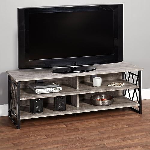 Metro Shop Seneca XX 60-inch Black Grey Rustic TV Stand