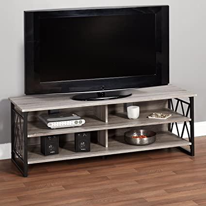 Amazon Com Metro Shop Seneca Xx 60 Inch Black Grey Rustic Tv Stand