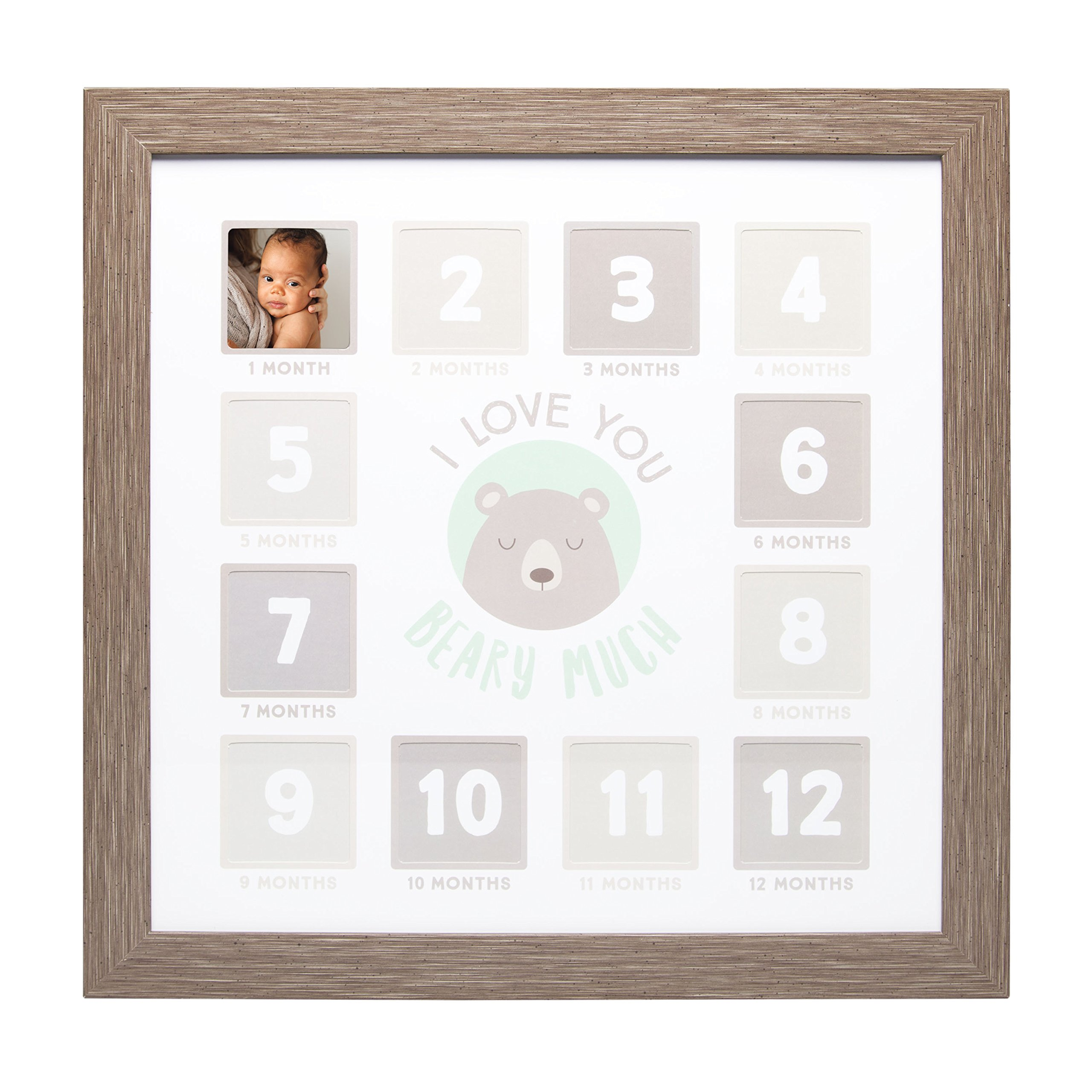 Kate & Milo First Year Keepsake Photo Frame, I Love You Beary Much, Brown
