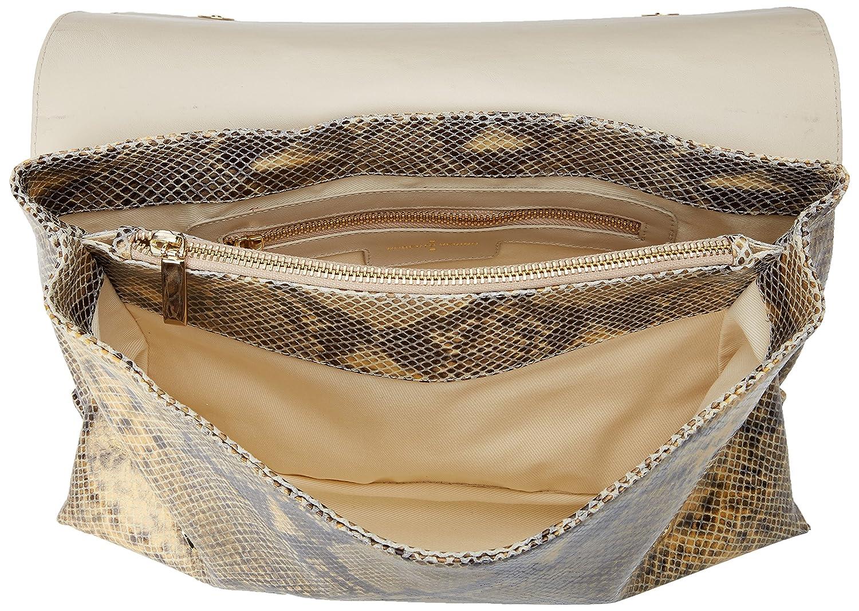 Roberto Verino Bolso Messenger Manhattan Serpiente, Cartera de mano para Mujer, Marrón (Camel) 7x19x32 cm (W x H x L): Amazon.es: Zapatos y complementos