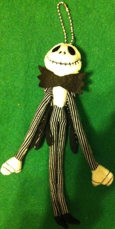Disney Nightmare Before Christmas 20cm Jack Skellington Clip on Doll Keyring B004SX5RXK