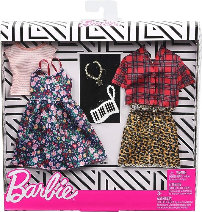 Amazon.es: Barbie Pack de Accesorios de Moda Vestido con Estampado Floral (Mattel GHX57), color/modelo surtido ...