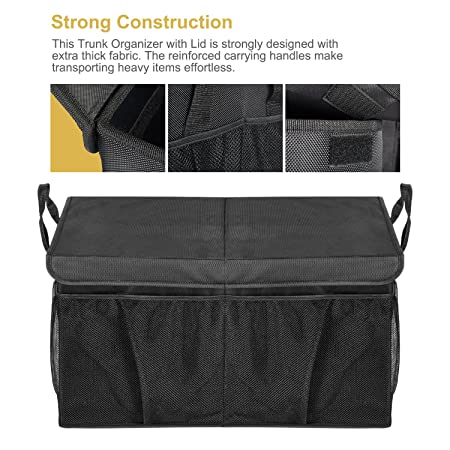 MIU COLOR Car Trunk Storage Organizer Collapsible Cargo Storage Containers  Portable Multi Compartments For Car, Truck, ...
